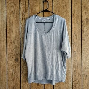 CAbi Short Sleeve Gray Athleisure Sweatshirt